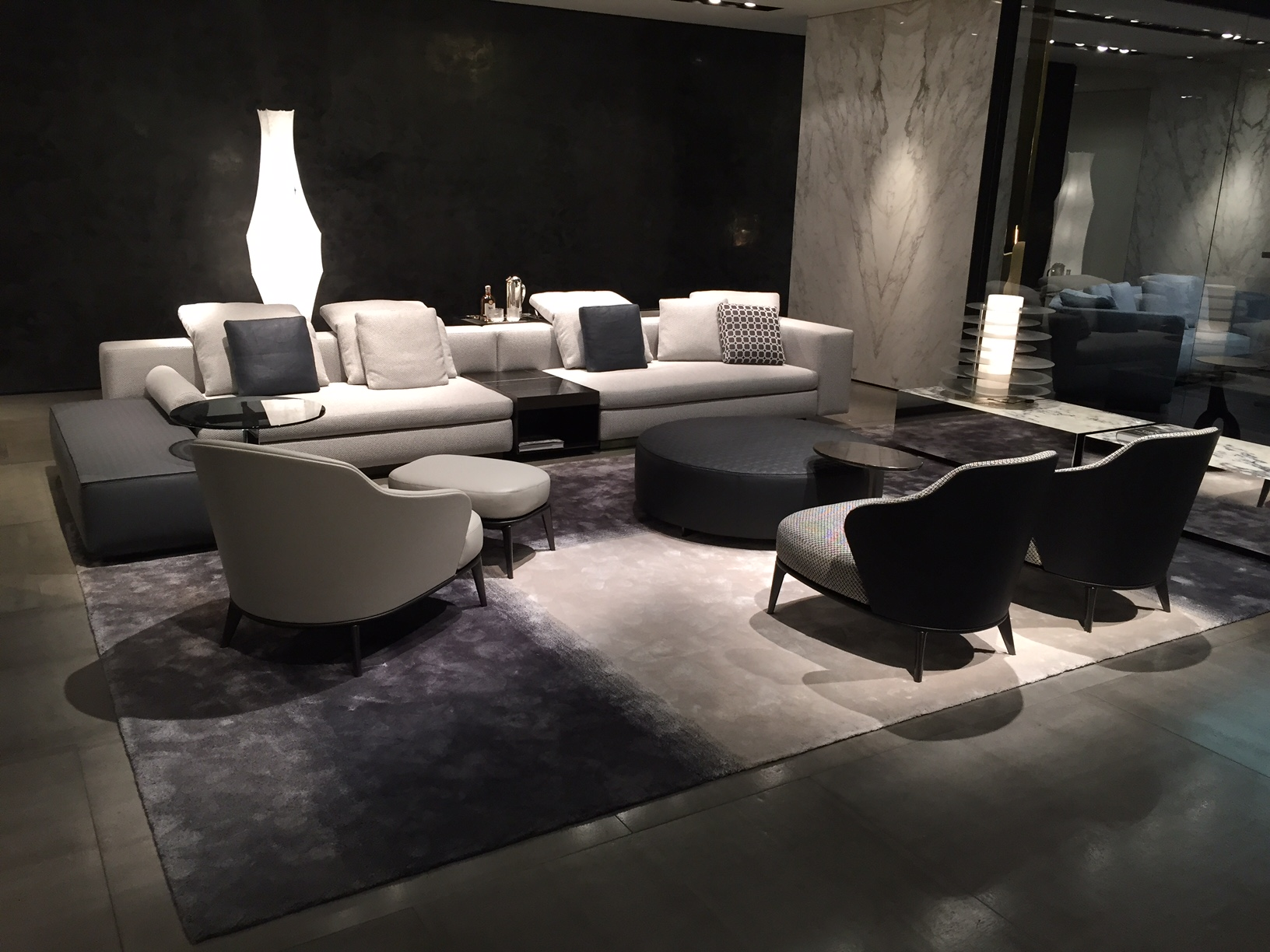 Yang sofa leslie lounge chairs minotti