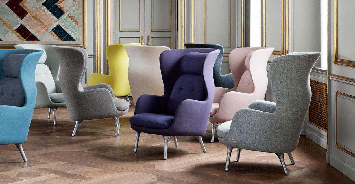 Fritz Hansen: Ro Wingback Chair