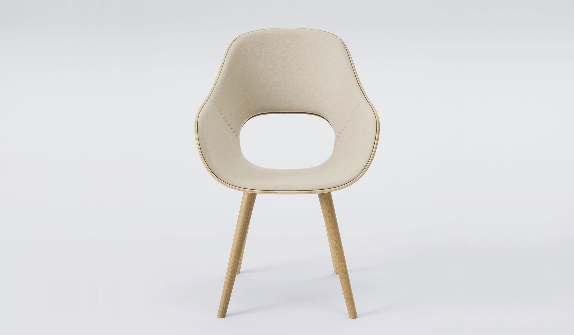 Maruni Roundish armchair (cushioned) designed by Jasper Morrison