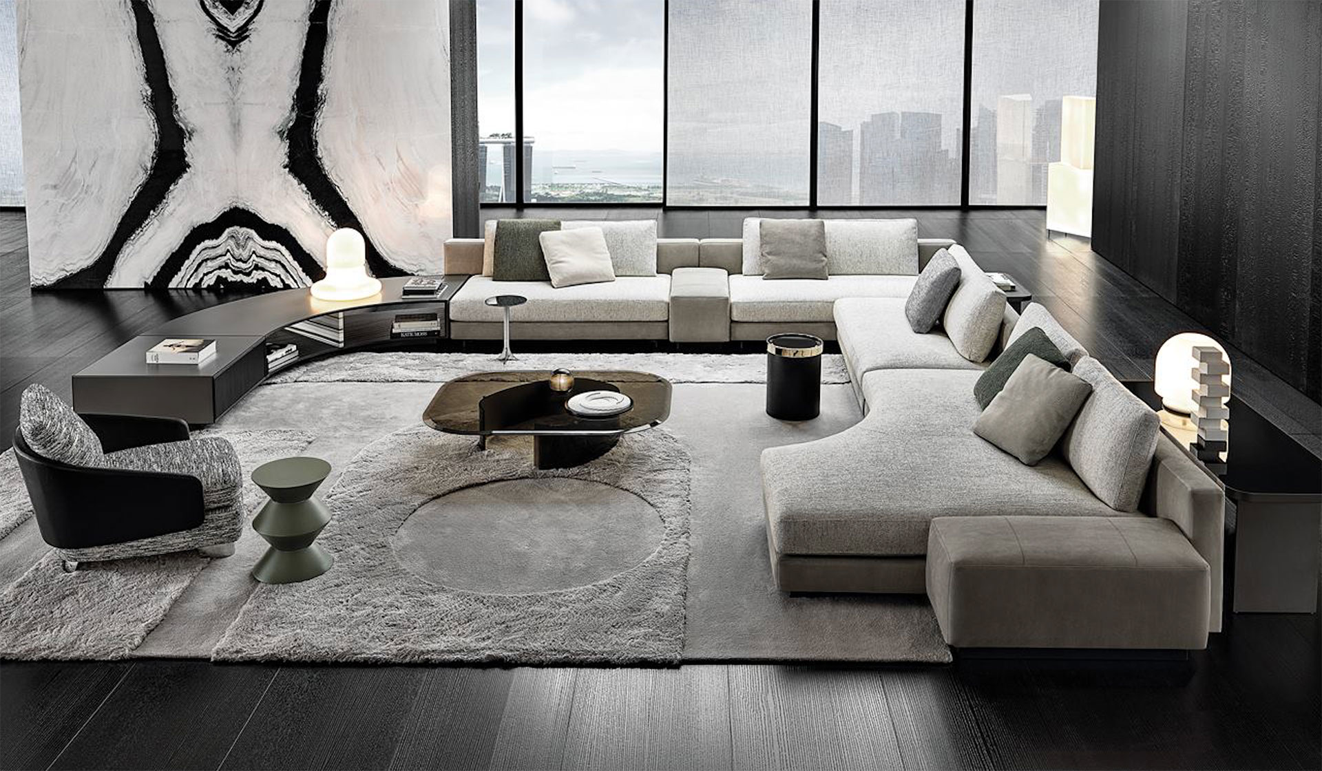 Minotti Daniels seating system Designed by Chrisophe Delcourt